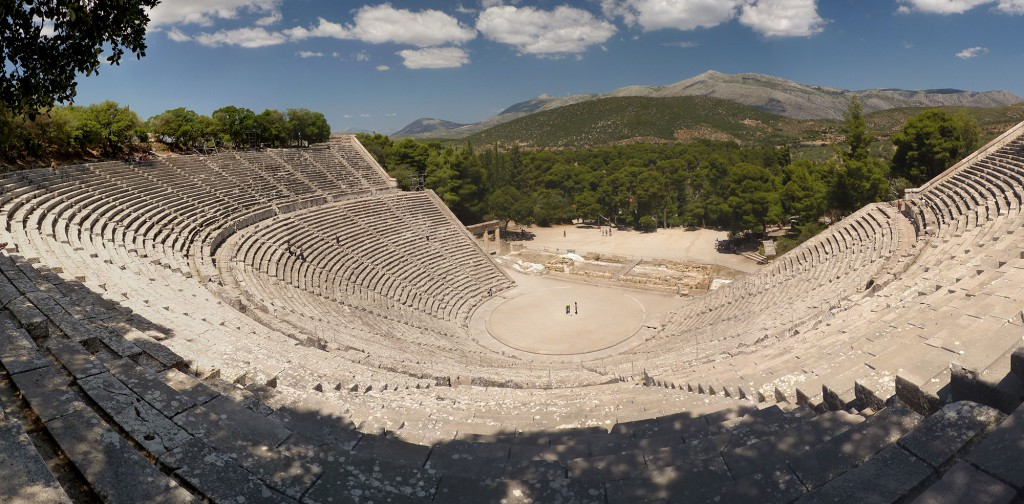 In the theatre of Epidaurus the acoustics are unbelievable