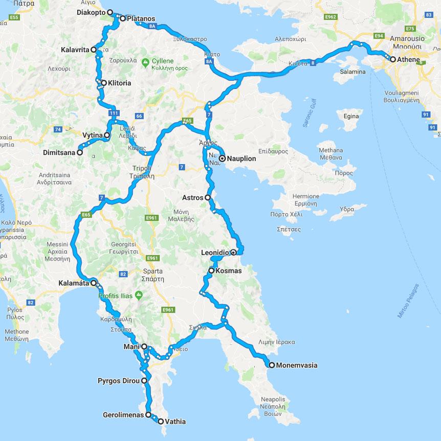 route-peloponnesus